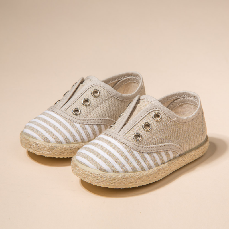 COTTON CANVAS SNEAKERS RAYAS