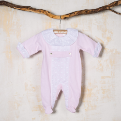 PINK COTTON BABY SLEEPSUIT MEJICO