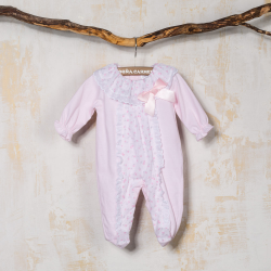 COTTON BABY SLEEPSUIT CHERRY
