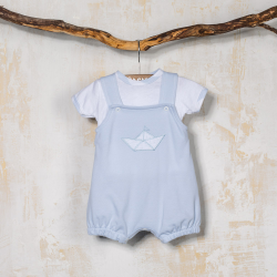 COTTON BOY SET WITH STRAPS  DYMAS