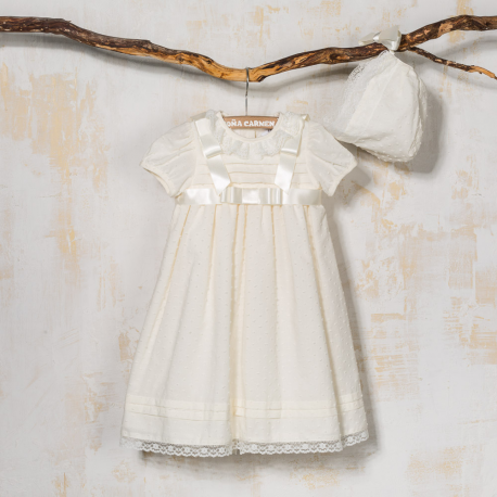 CHRISTENING GOWN AND BONNET ROMERO