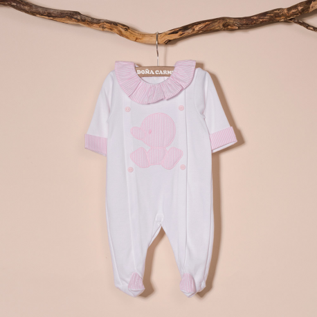 COTTON BABY SLEEPSUIT CUA