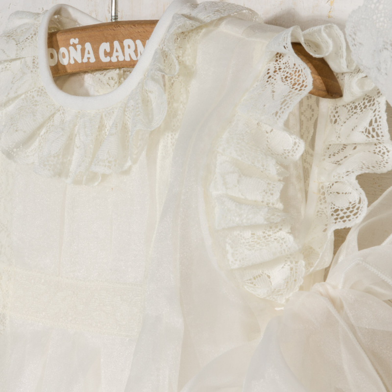 CHRISTENING GOWN AND BONNET CATEDRAL