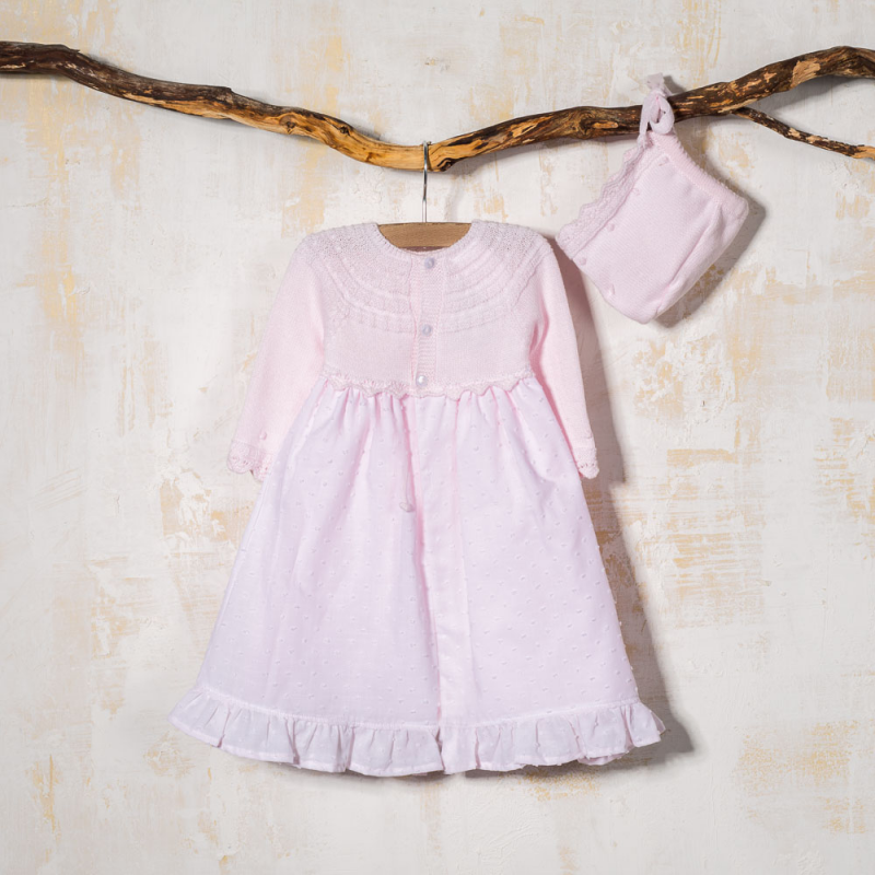 BABY DRESS WITH BONNET CUETO