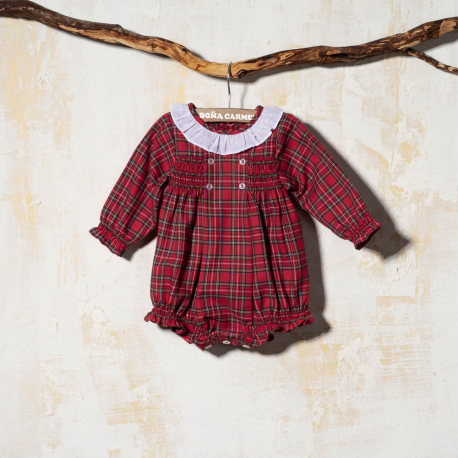BABY ROMPER SMOCKED PERSIA