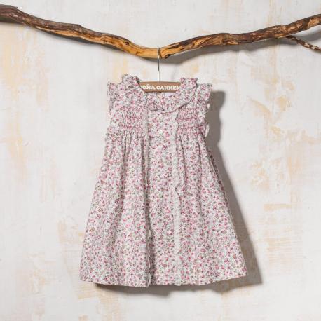 SMOCK BABY DRESS WITH PANTIES PURPURA