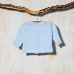 BABY SWEATER GLOBAL BLUE