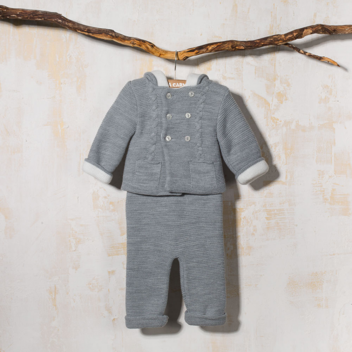 GRAY KNITTED SET PONCE