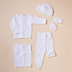 BABY SET 5 PIECES OSO BORDADO