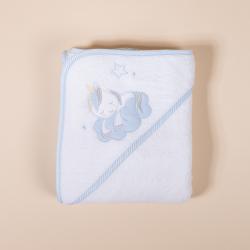 BABY TOWEL WITH HOOD UNICORNIO