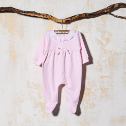 PINK COTTON SLEEP SUIT BASE