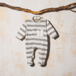 GRAY COTTON SLEEP SUIT BOLA