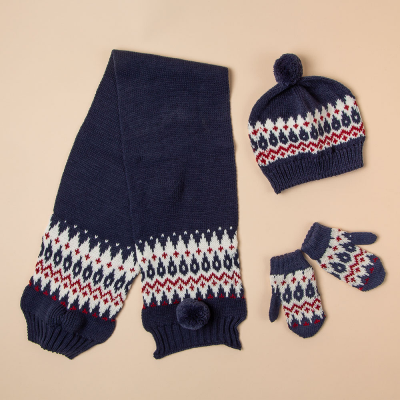 CAMEL BEANIE, SCARF AND MITTENS SET CONDE