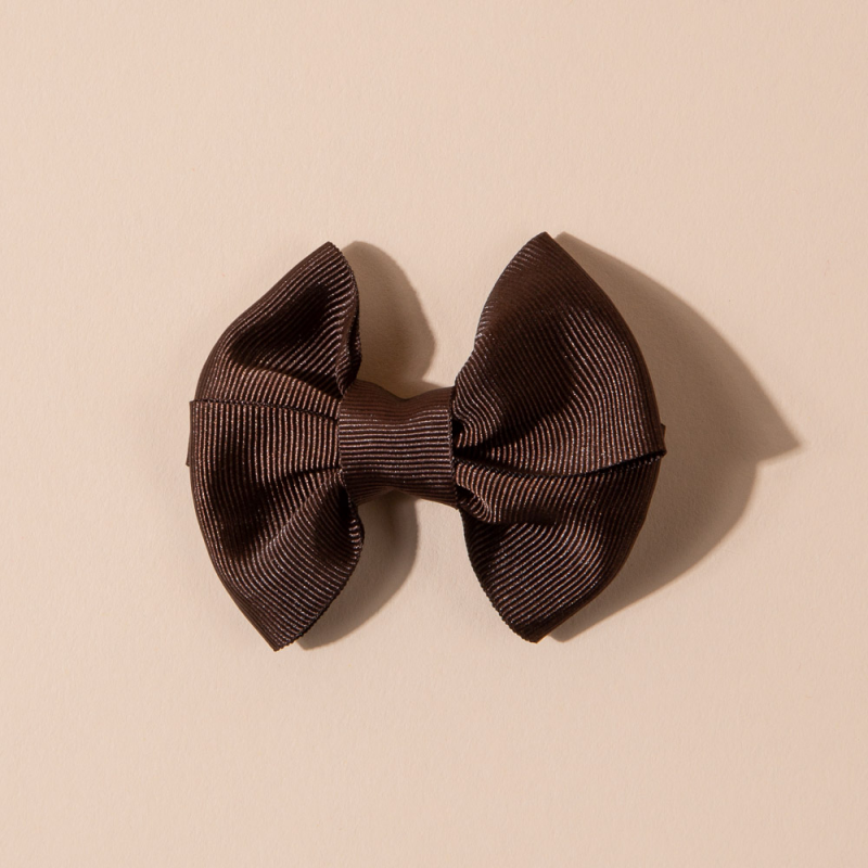 BOW HAIR CLIP GROS GRAIN