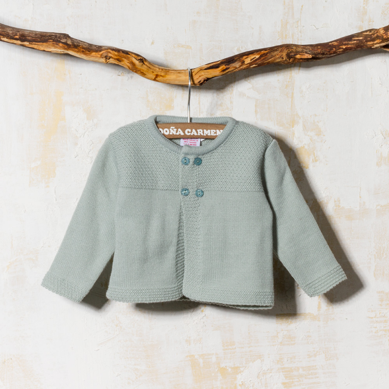 DUSTY GREEN WOOLEN CARDIGAN CACTUS