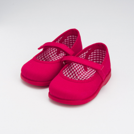 CANVAS LITTLE MARY JANE SHOES WITH STRAP