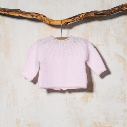 BABY SWEATER GLOBAL PINK