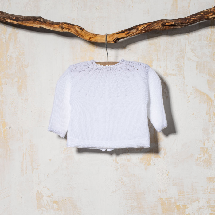 BABY SWEATER GLOBAL WHITE