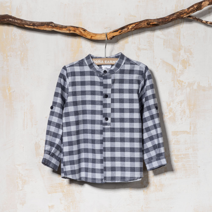 BOYS  MAO COLLAR SHIRT PALMA