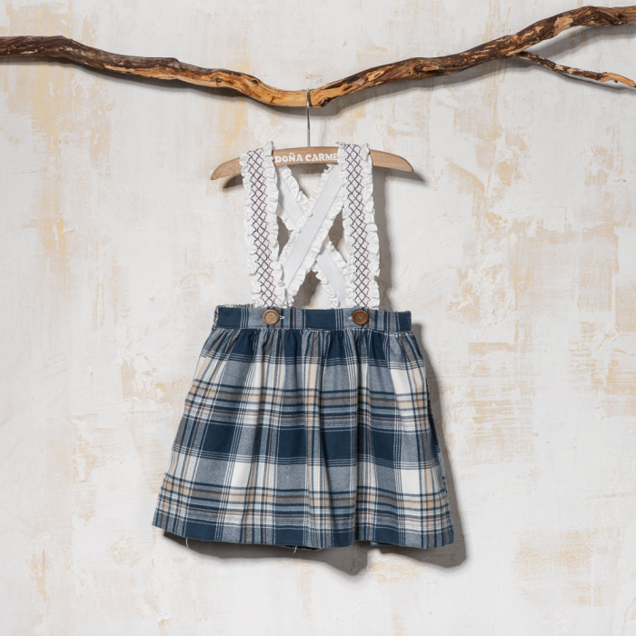 SKIRT WITH SMOCK BRACES LETHA