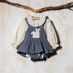 GIRL DUNGAREE SET UNIVERSO