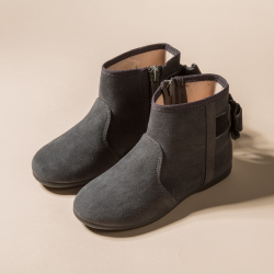 GIRL GREY BOOT WITH BOW