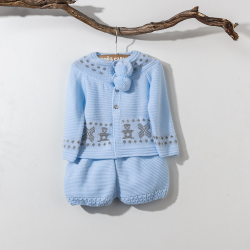 BLUE WOOLEN SET PAMPA