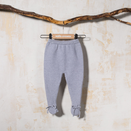 GRAY FOOTED PANTS CORD