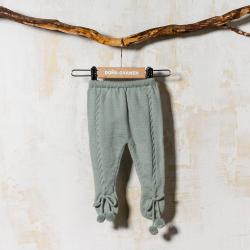 DUSTY GREEN WOOLEN FOOTED PANTS OCHOS