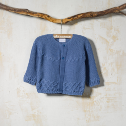 ROYAL BLUE WOOLEN CARDIGAN ASTUR