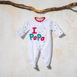 COTTON BABY SLEEPSUIT CORAL