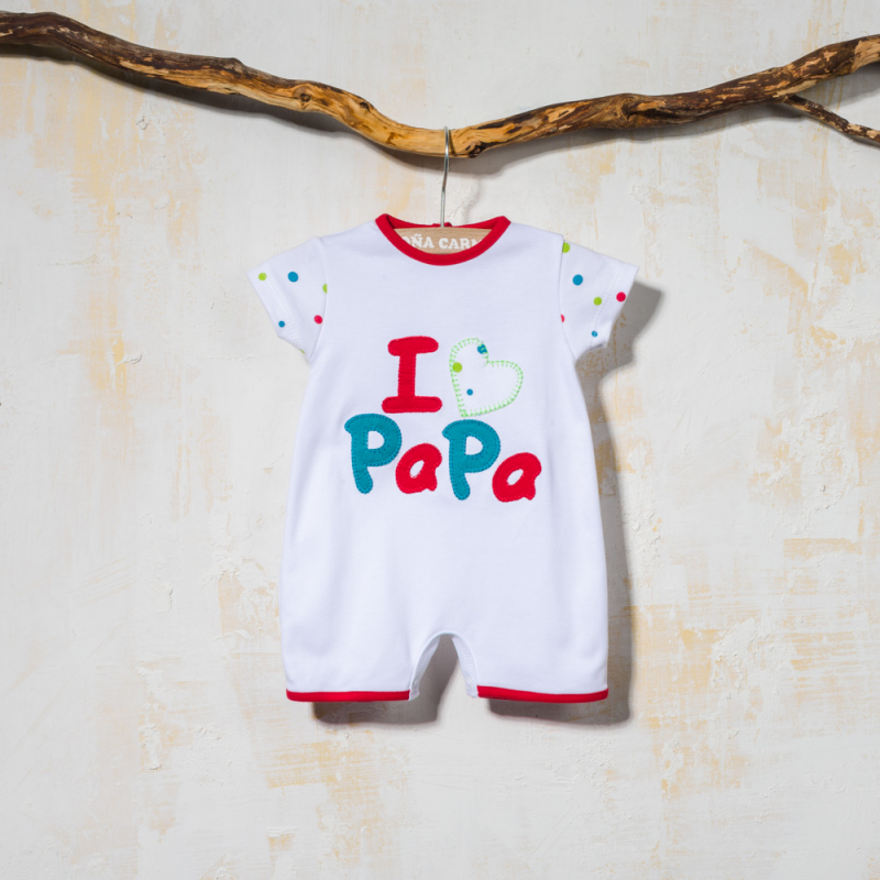 COTTON BABY ROMPER CORAL
