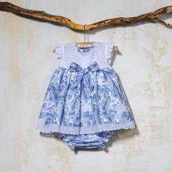 BLUE DRESS WITH PANTIES SELVA