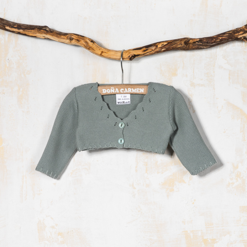 DUSTY GREEN CARDIGAN VENECIA