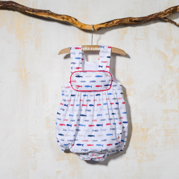 BABY ROMPER WITH STRAPS PECES