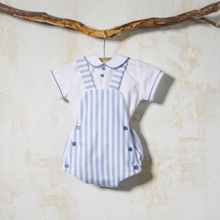BABY DUNGAREE AND SHIRT LISTAS