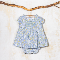 SMOCKED DRESS WITH PANTIES CANELA