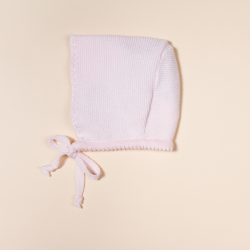 PINK COTTON BONNET CORDON