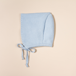 BLUE COTTON BONNET CORDON