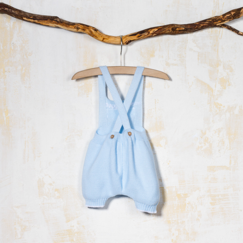 KNITTED BLOOMER DUNGAREE WITH STRAPS TRICOT
