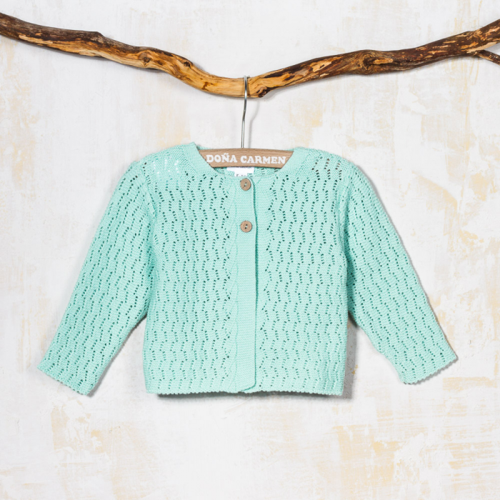 DUSTY GREEN CARDIGAN ESPIGA