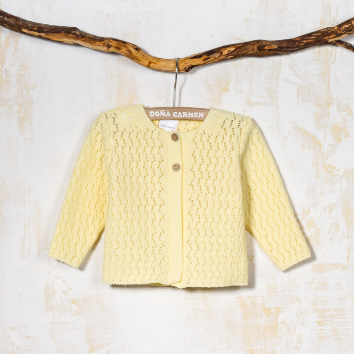 YELLOW CARDIGAN ESPIGA