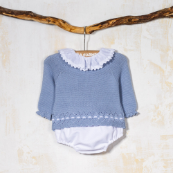 BLUE KNITTED SET CHILE