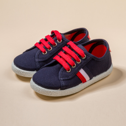 COMBINED COTTON CANVAS TENNIS SHOES CORDON