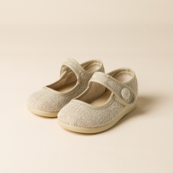 LINEN LITTLE MARY JANE SHOES