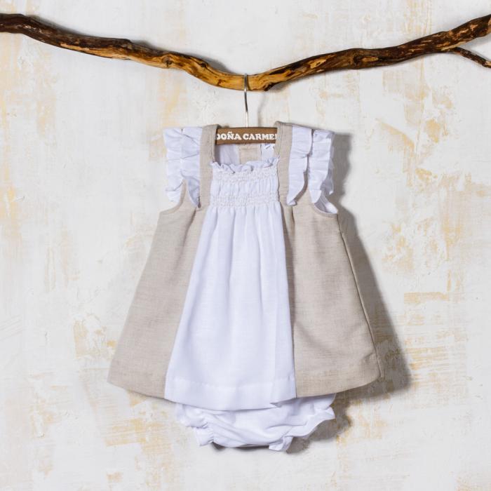 SMOCKED DRESS WITH PANTIES RUDA