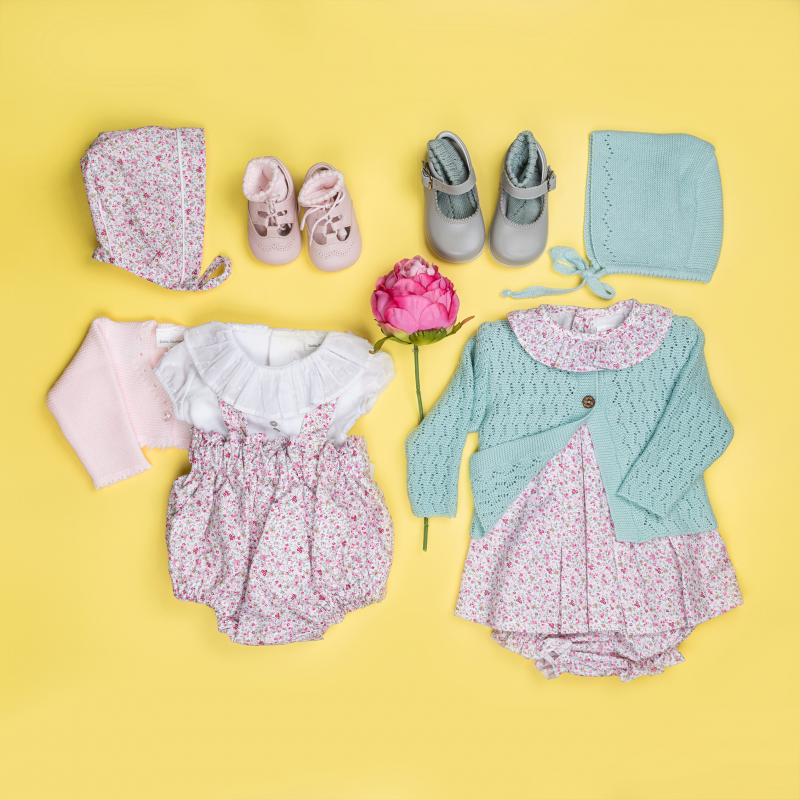 FLORAL BABY DRESS WITH PANTIES OSTRA
