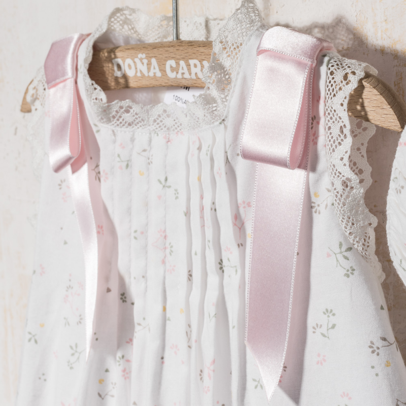 BABY DRESS WITH BONNET MILLA