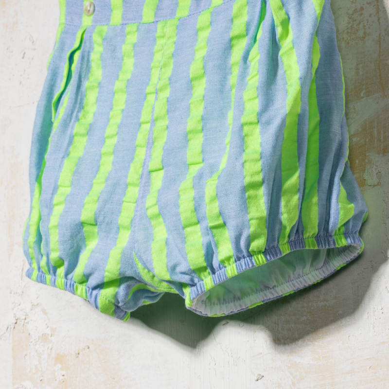 STRIPED SHORTS FLUOR