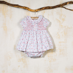SMOCKED DRESS WITH PANTIES CAMPER